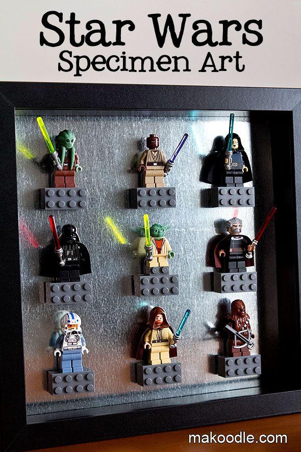 Star Wars Decor Ideas - Lego Specimen Art - Makoodle Boys Rule - star wars bedroom ideas