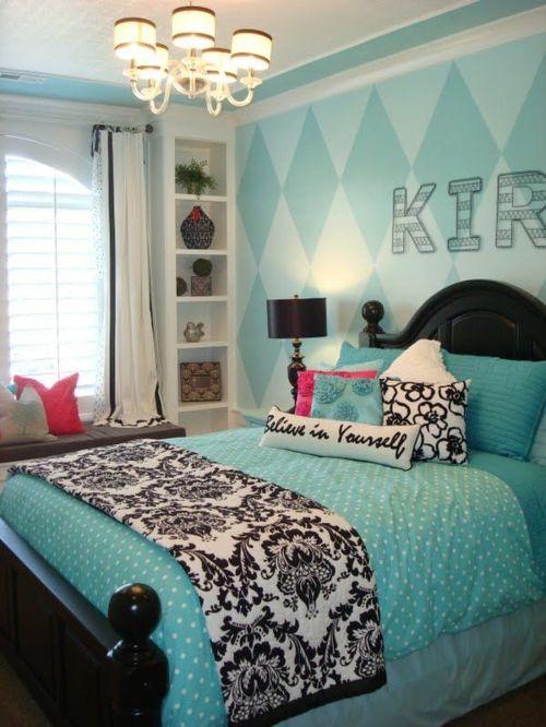 Farbgestaltung fürs Jugendzimmer u2013 100 Deko- und Einrichtungsideen - kinderzimmer blau mdchen