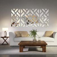 Mirrored Chevron Print Wall Decoration | Acrylics, Mirror ...