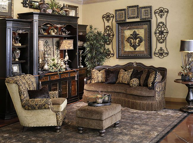 Hemispheres - A World of Fine Furnishings For the Home - tuscan style living room