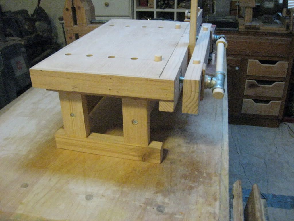 Woodworking Tool Bench A Benchtop Bench Moxon Vise By Tinnocker