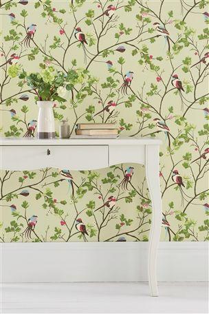 Buy Bird Menagerie Wallpaper from the Next UK online shop   For Eliana   Pinterest   Wallpaper ...