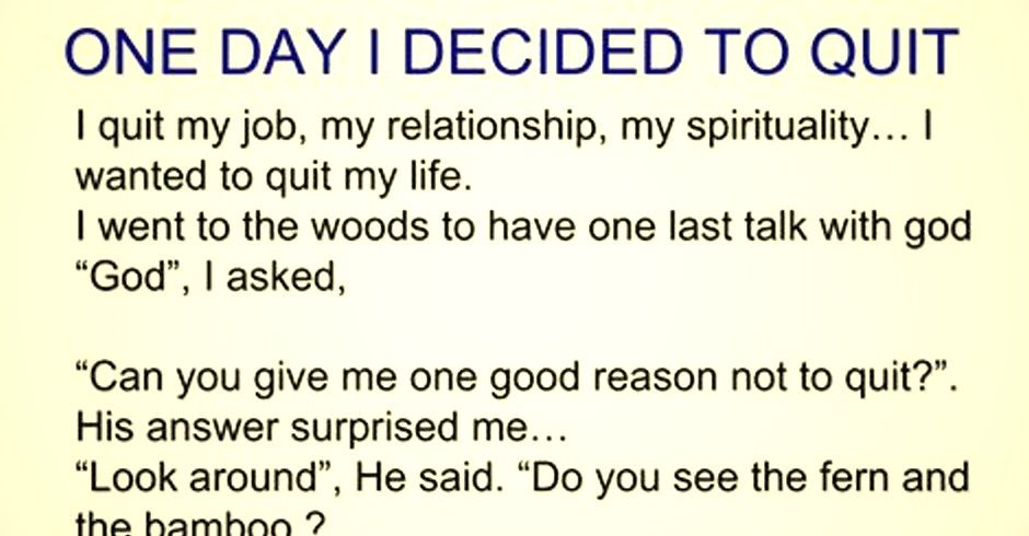 In todayu0027s article you can read an incredible story about a man - great relationships after quitting job