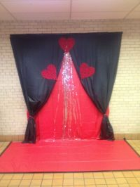 Backdrop for a middle school Valentines dance. Made with ...