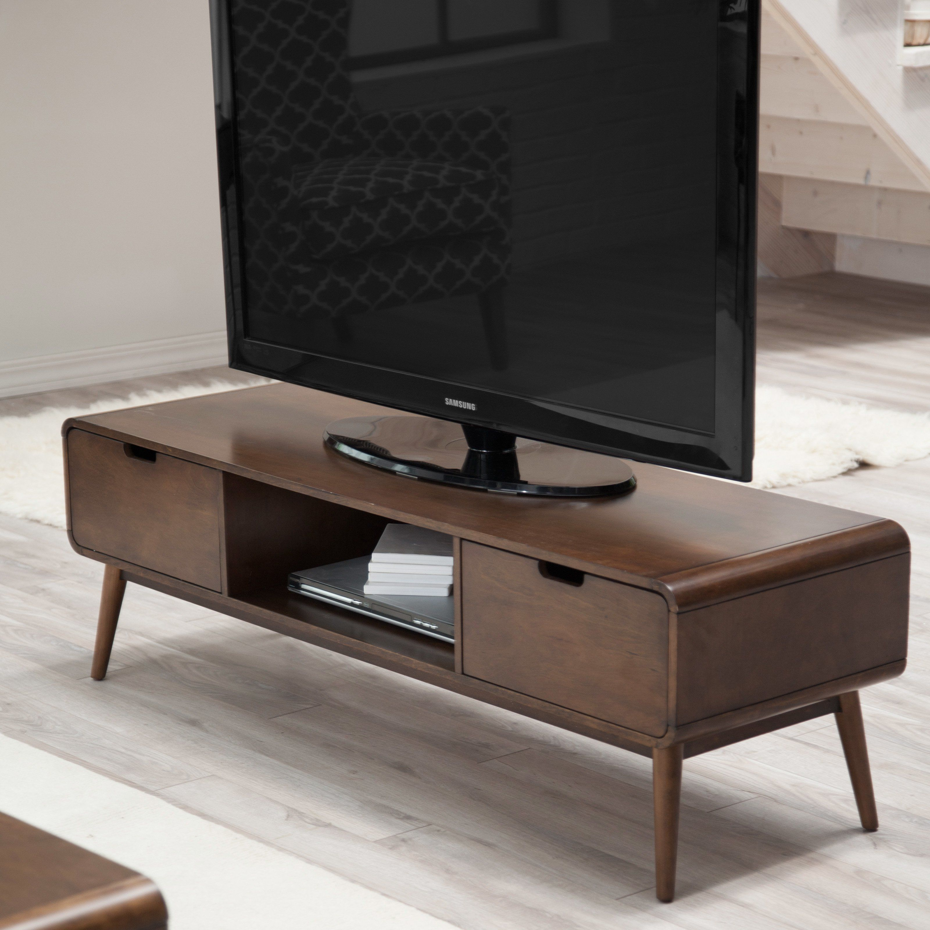 Contemporary Tv Stands Belham Living Carter Mid Century Modern Tv Stand While
