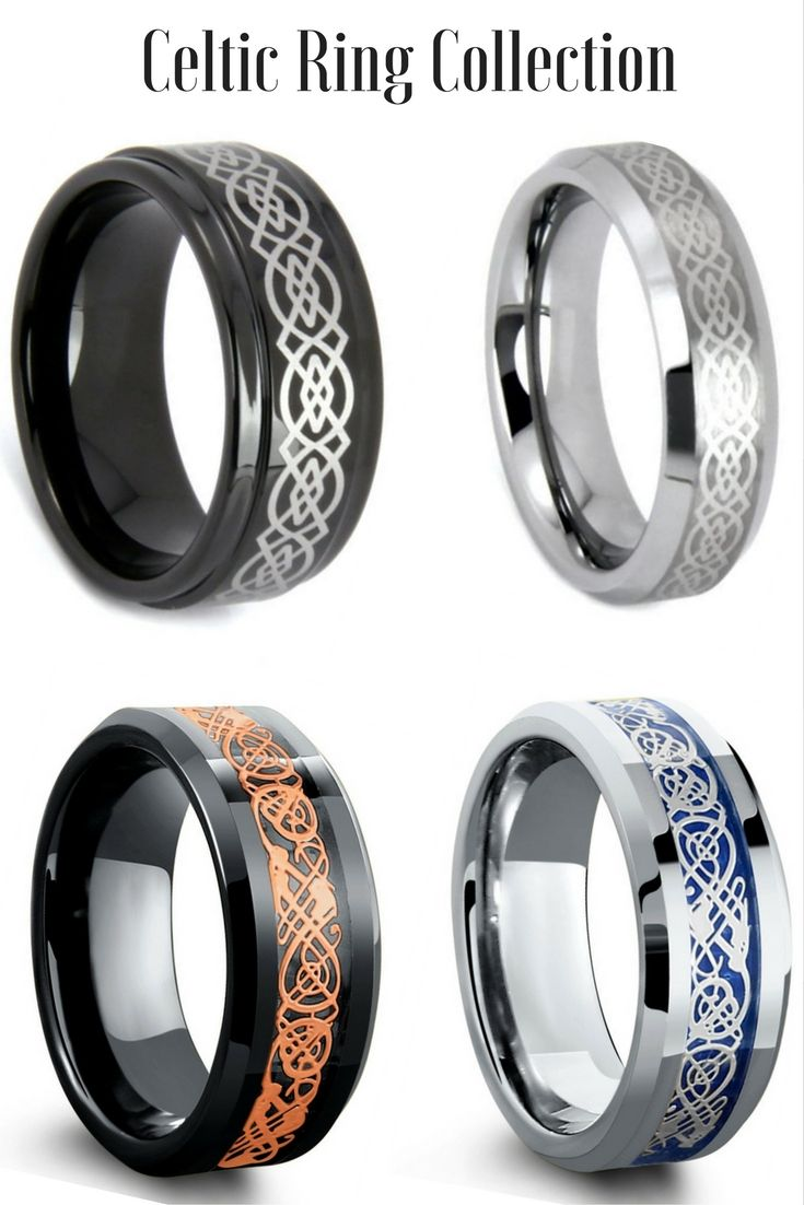 pagan wedding rings Mens Celtic Tungsten Wedding Rings I love all these celtic rings Some of the