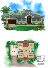 Small old Florida cracker style house plan with metal roof ...