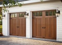 Clopay Canyon Ridge Collection faux wood carriage house ...