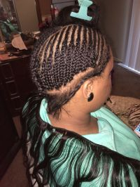 My braid pattern for sew ins. | Hair | Pinterest | Braid ...