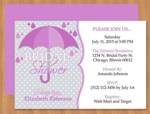 Cute umbrella bridal shower microsoft word invitation template - bridal shower invitation templates for word