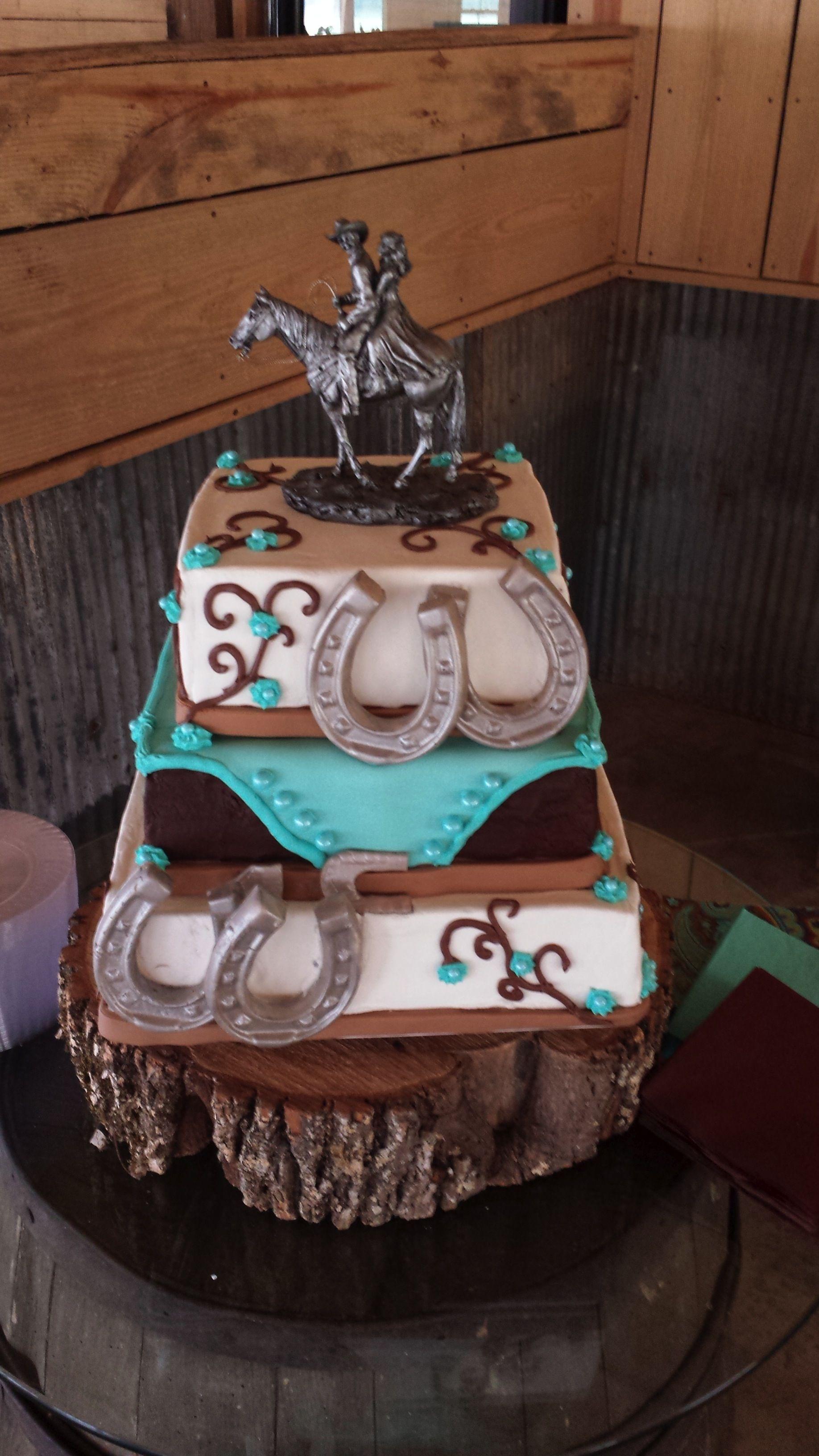 western wedding ideas Western Wedding Cake