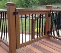 Safety gates for your deck rail come in all different ...