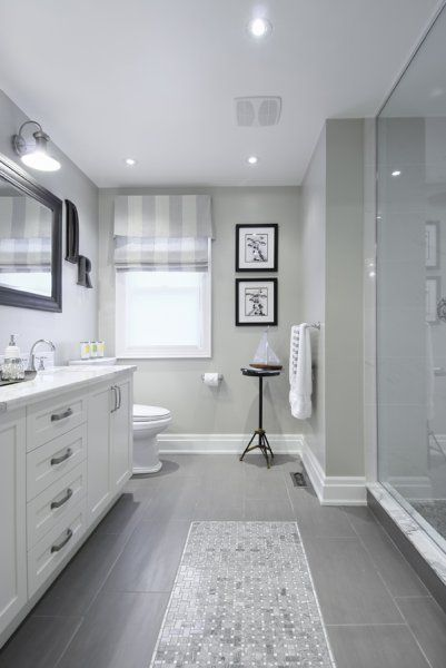 5 Tricks for Choosing the Perfect Paint Color White vanity - gray and white bathroom ideas