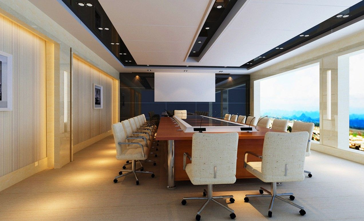 Conference Room Decorating Modern Conference Table White Home Office And