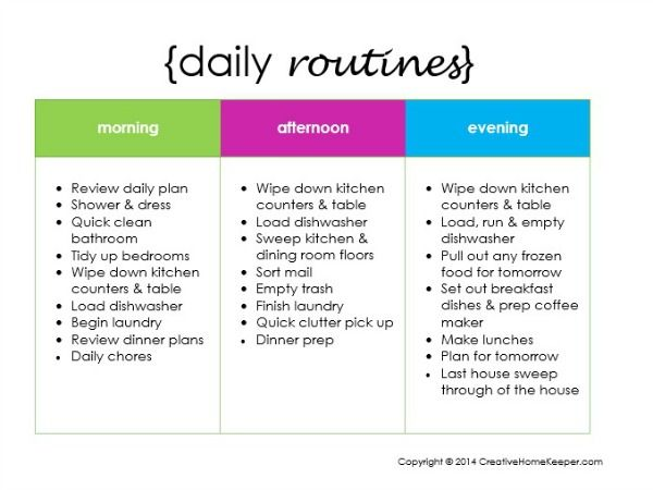 Creating a Daily Routine {plus a FREE printable Daily routines - creating checklist