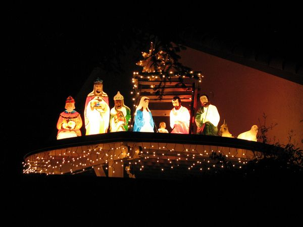 Unique Outdoor Christmas Lights Ideas unique outdoor nativity - lighted christmas yard decorations