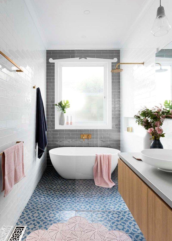The new classic bathroom Narrow bathroom, Small spaces and Spaces - narrow bathroom ideas