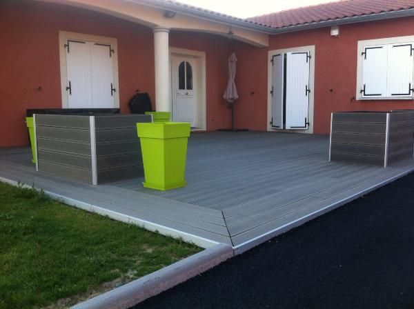Lame Terrasse Composite Gris Anthracite Lame Terrasse En Bois Composite | Mdsa-france Gris