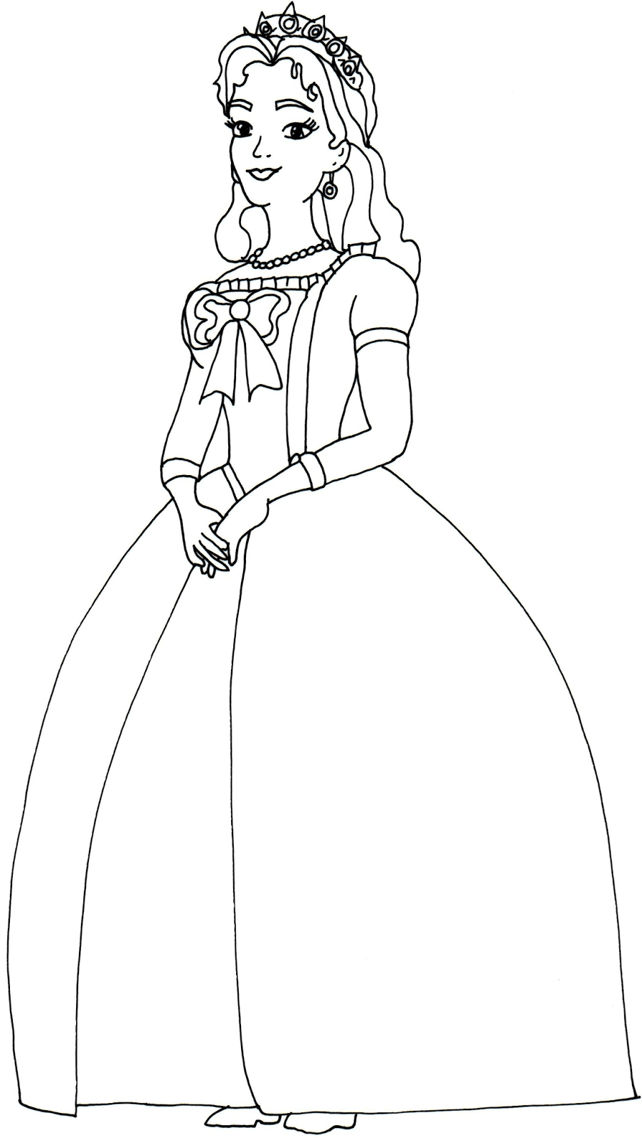 Free printable coloring pages queen