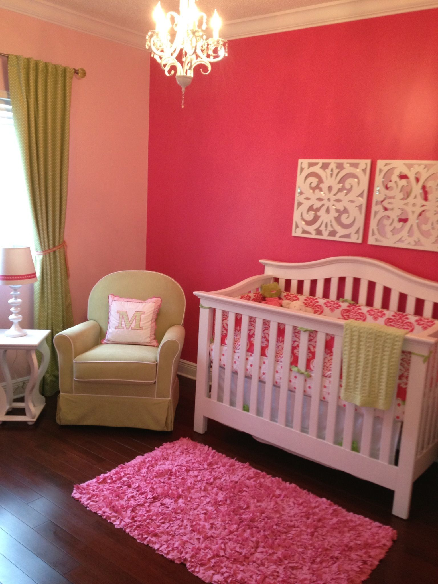 Wall Colours For Kids Rooms Baby Girl Nursery Accent Wall With Lighter Walls