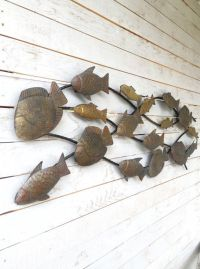 Metal School of Fish Wall Art Metal Wall Decor by ...