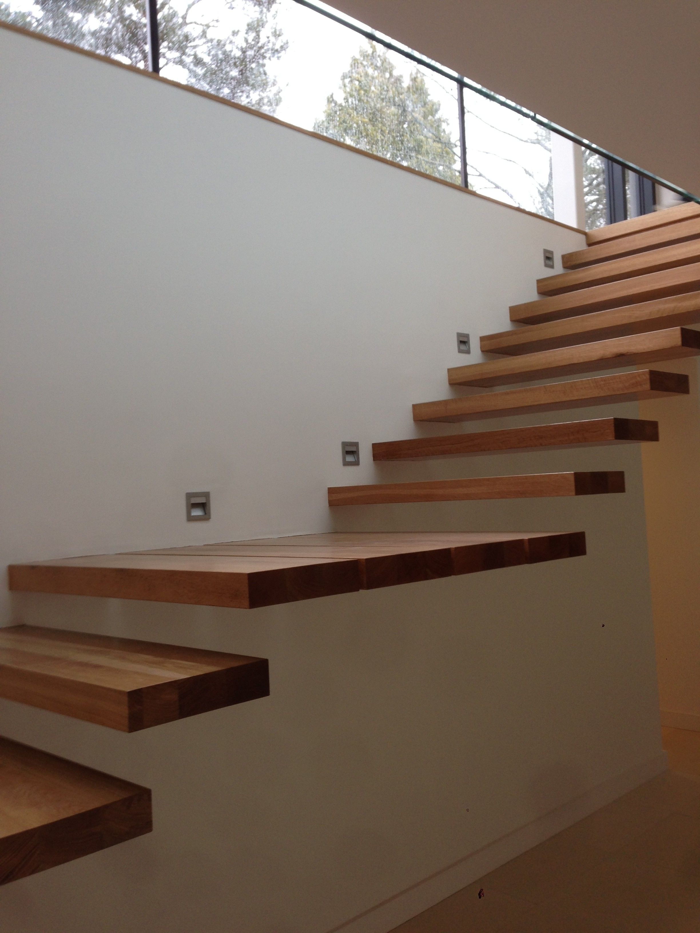How To Build Floating Stairs Amazing Teak Wood Floating Stairs Attach On Wall Without
