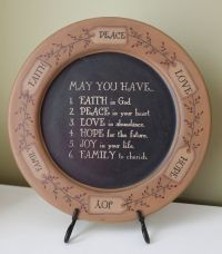 NEW IN BOX Wooden Decorative Plate with Stand Country ...