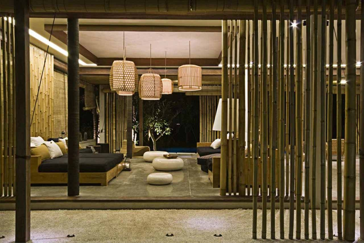 Decoracion Bambu Interiores Decor Bamboo Sticks Material Natural Bedroom Design Bamboo