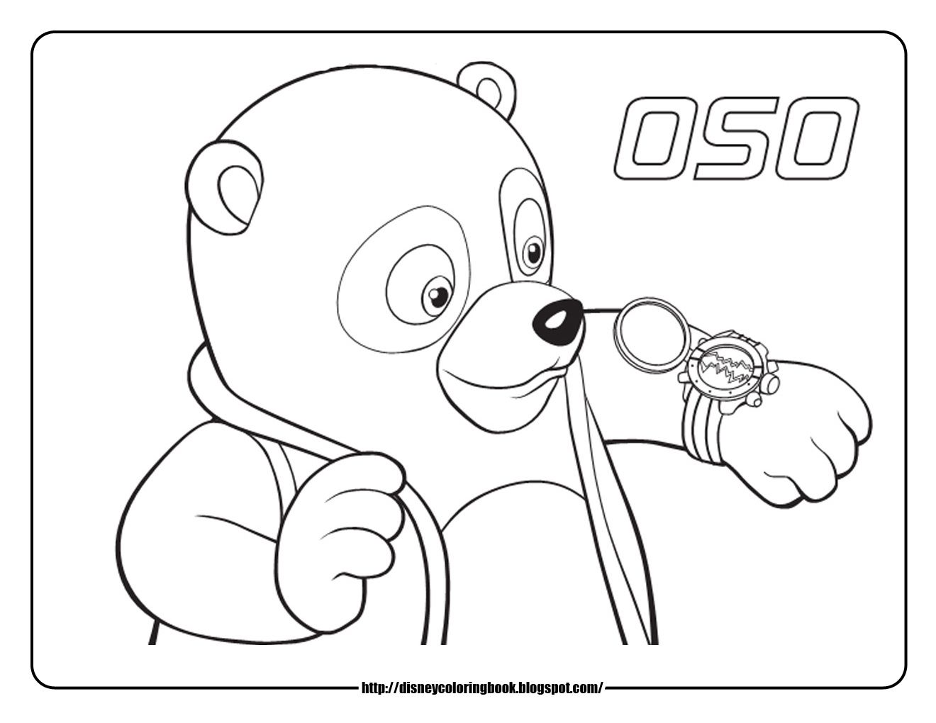 Disney junior coloring pages special agent oso 1 free disney coloring sheets