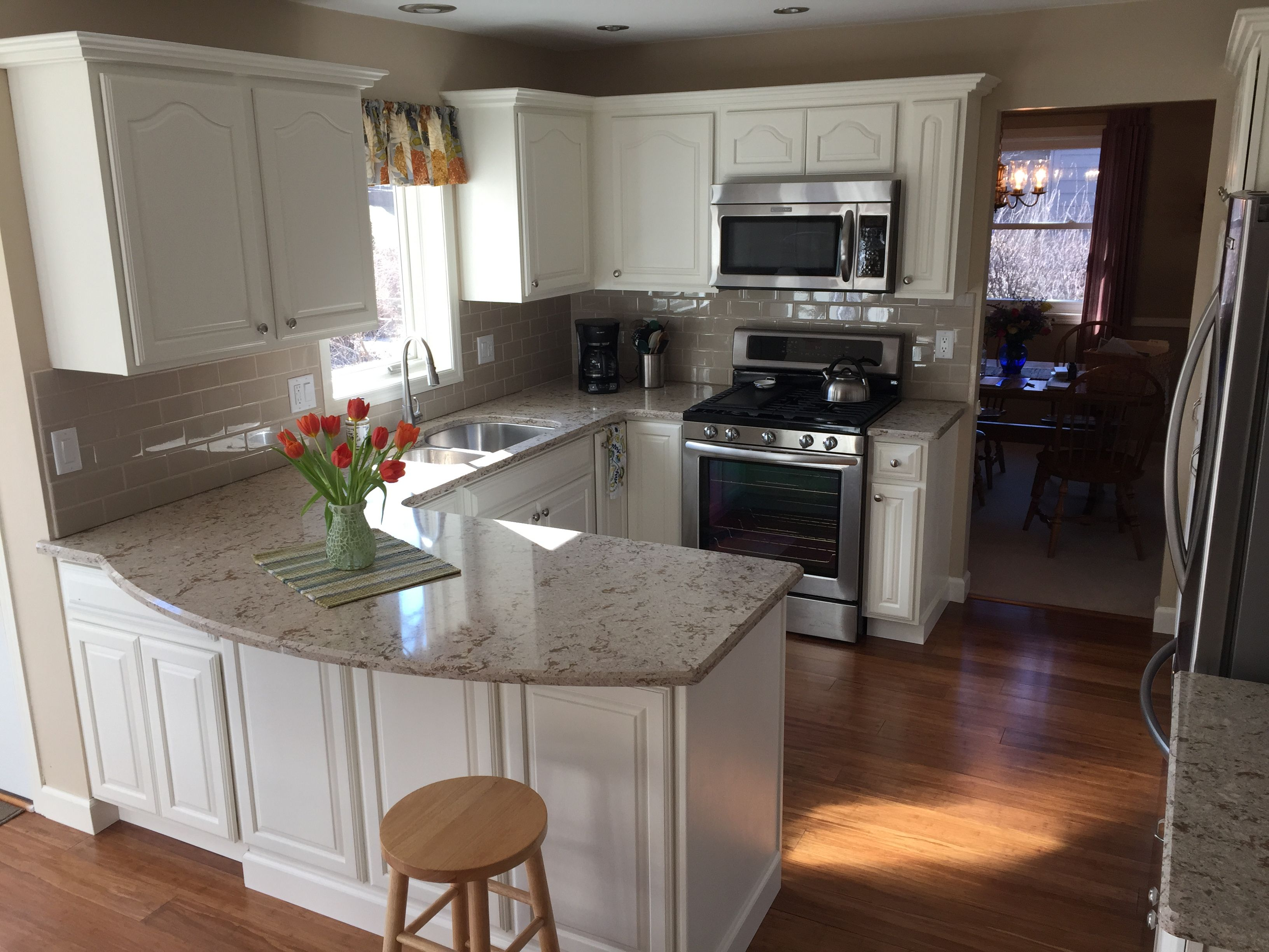 Used Oak Kitchen Cabinets Our Kitchen Remodel Oak Cabinets Painted White We Used