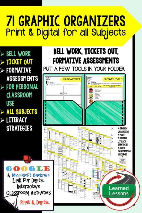 Digital Graphic Organizers, Bell Work, Ticket Out, Formative - formative assessment strategies