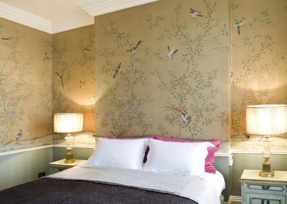 Tapete Schlafzimmer Beige - Wohndesign