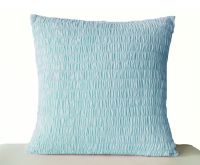 Light Blue Cotton Pillow -Ruched blue pillow -Sky blue ...