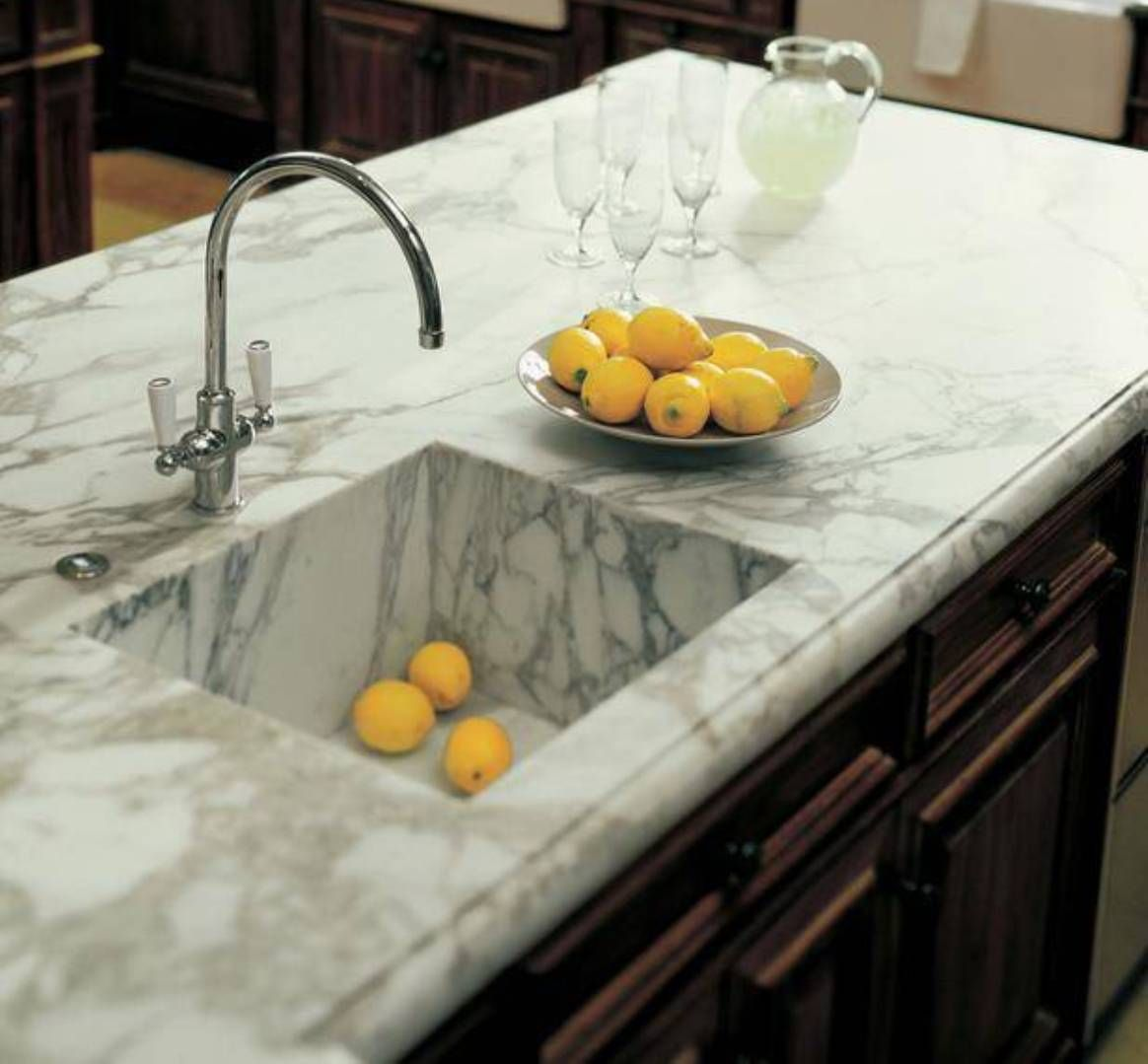 Marble Basin Countertop Kitchen Best Kitchen Countertops Options Marble