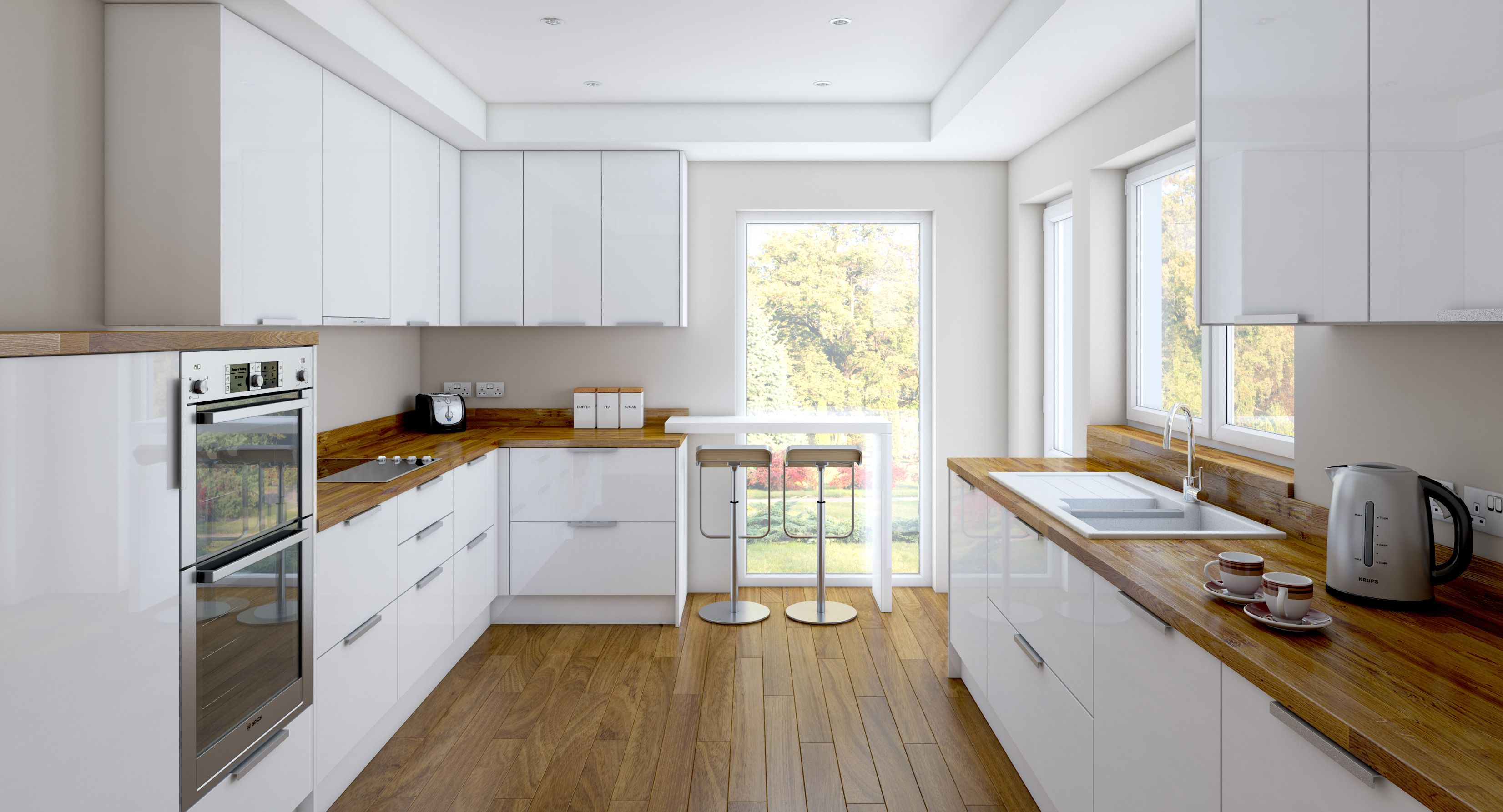 White And Wood Kitchen Charming And Classy Wooden Kitchen Countertops White