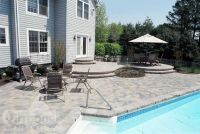 grey pool deck pavers | Pavers around Pool | Home ideas ...