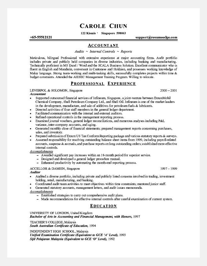 It Experience Resume Format Resume Format - format for professional resume