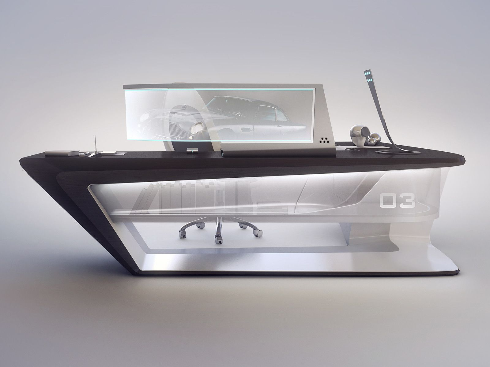 Cool Futuristic Furniture Modern Desk Design Dekor Pinterest Desks Modern And