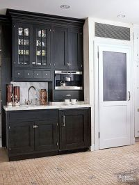 Wet Bar Ideas | Stain cabinets, Beverage center and Bar sinks