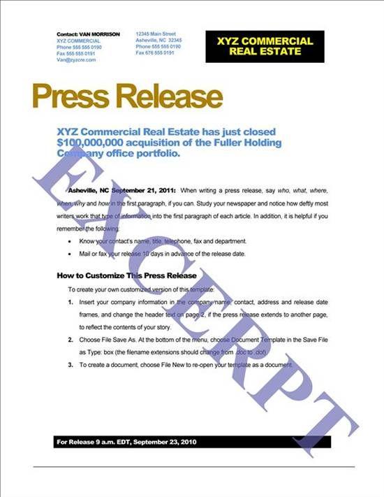 press release template free - Google Search Jill Sharpeu0027s - press release template