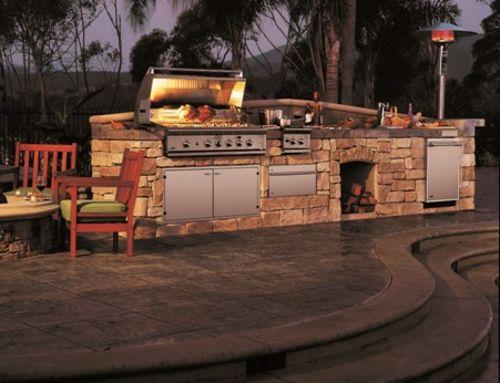 Outdoor Küche mit Grill stein konstruktion holz Lifestyle - kuche im garten balkon grill