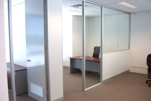 half glazed office partitions