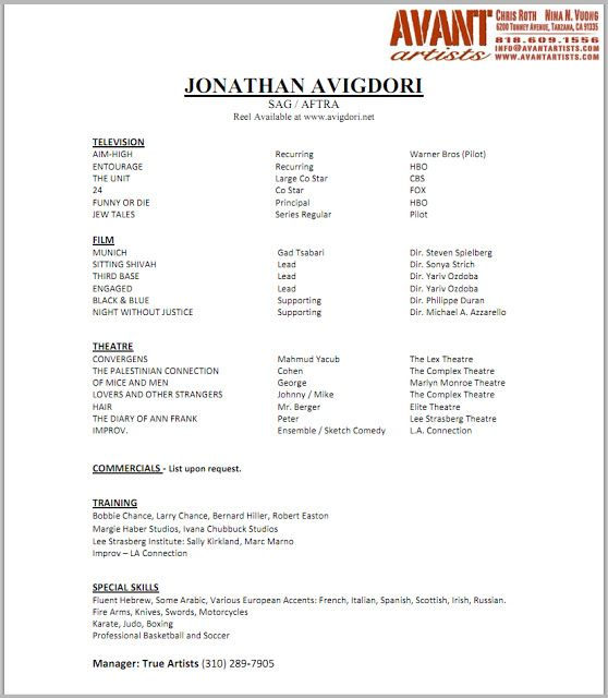 How to Make an Acting Resume With No Experience  Chroncom