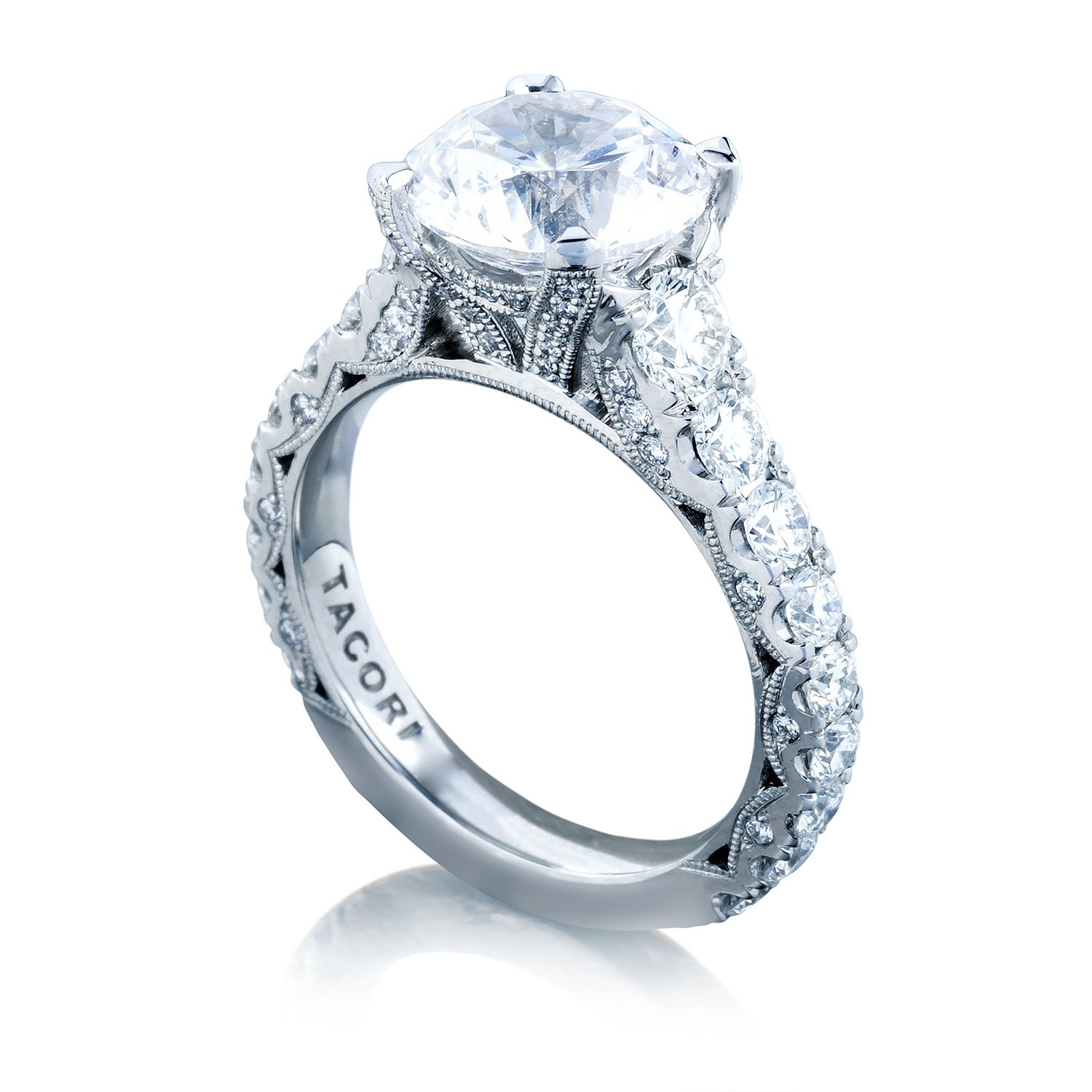 tacori wedding band Tacori RoyalT HT Round Engagement Ring Setting