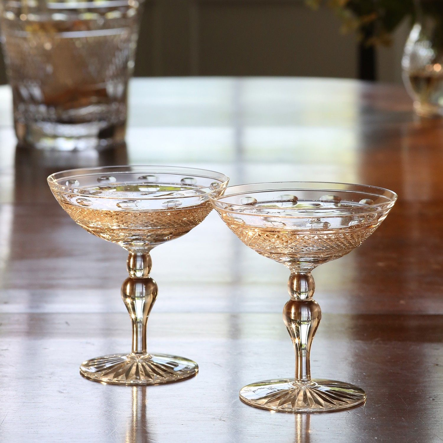 Decoration Coupe De Champagne Cumbria Crystal Champagne Saucers Dine And Drink