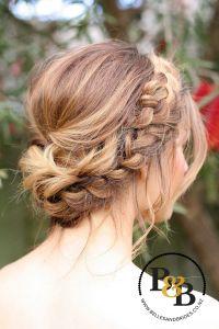 Wedding hair with braid / messy bridal updo / bridesmaids ...