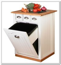 Tilt Out Trash Bin Storage Cabinet