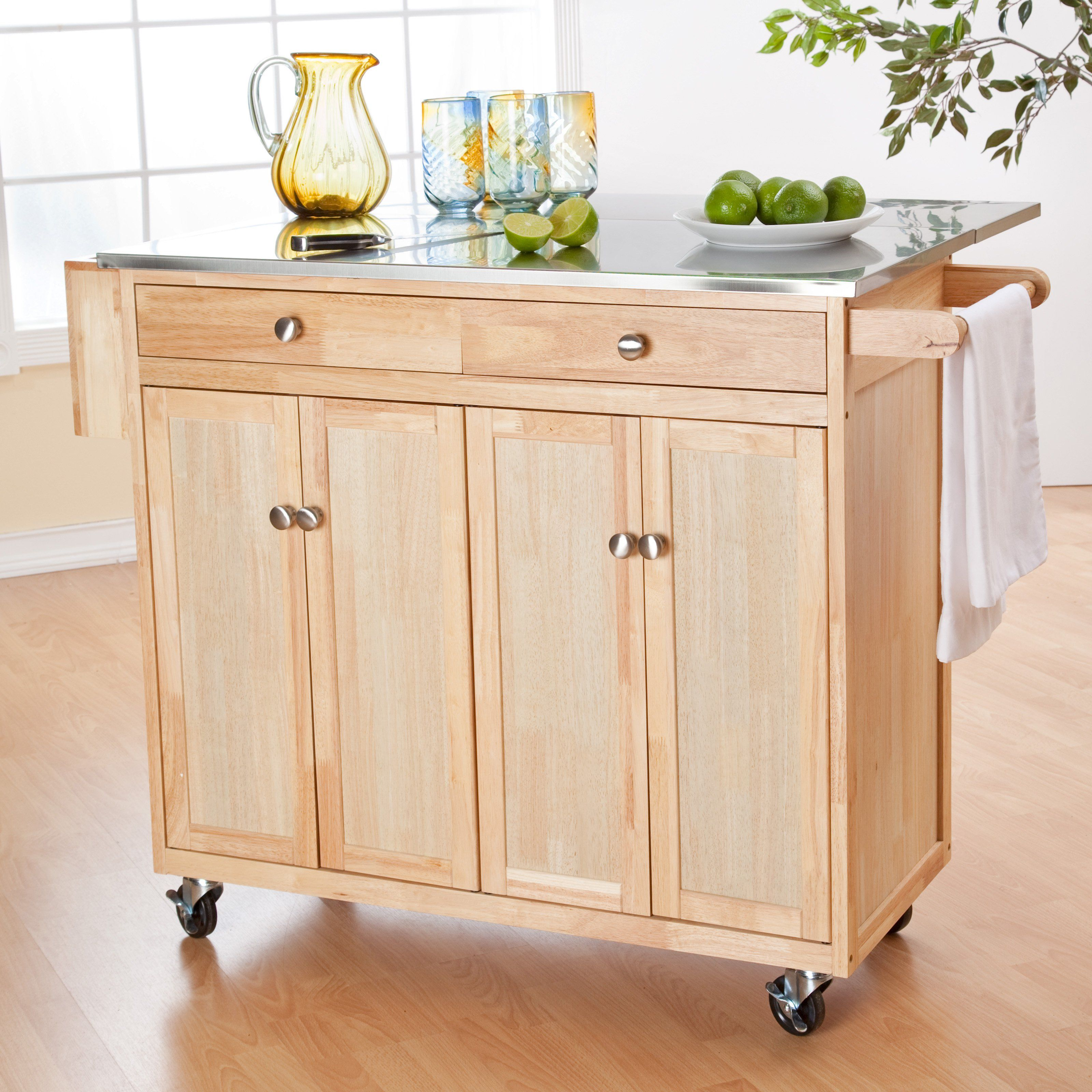 stools for kitchen island Belham Living Milano Portable Kitchen Island with Optional Stools 98