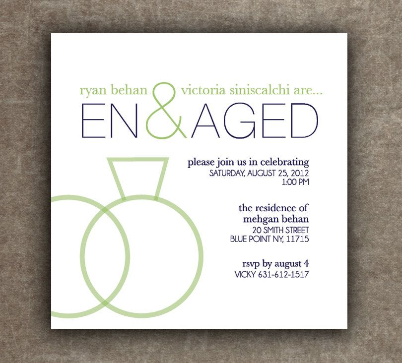 Engagement Party Invitation, Rehearsal Dinner Invitation, Modern - how to word engagement party invitations