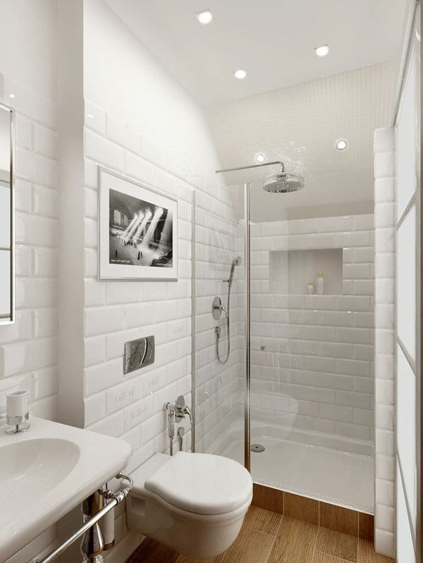 ideen kleines bad weiß Projektowanie Pinterest kleine Bäder - kleines badezimmer fliesen ideen